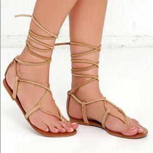 "Steve Madden ""Werkit"" Lace Up Sandals"